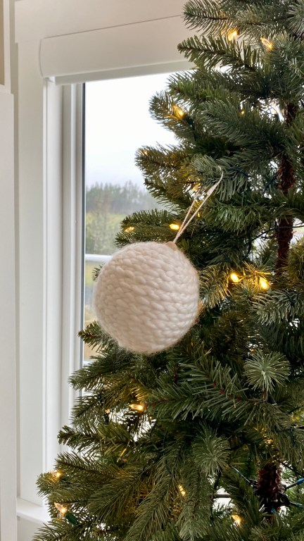 How to hang large Christmas tree ornaments