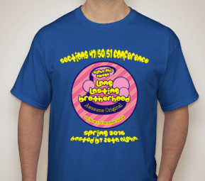Front of shirt. Actual shade of blue of t-shirt may vary.