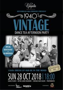 1940s Vintage Dance Tea Afternoon Party by Jitterbugs SKG, Thessaloniki, Oct 28, 2018.