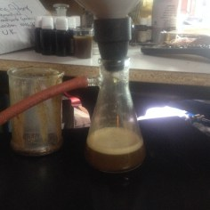 Vaccuum filtering of Frankincense Papyrifera Oleos extract.