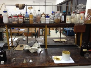 Preparing Civet perfume absolute from the raw paste. Professor Dagne's lab in Addis Ababa