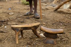 Traditional Samburu headrest/stools