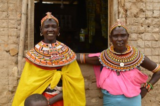 Samburu women. They are all gorgeous!