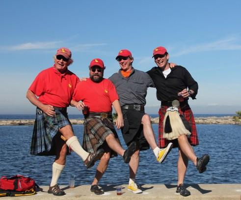 Four sailors.