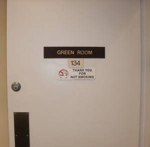 The Green Room.