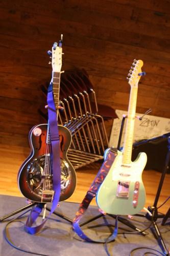 Blue guitars.   (photo by Amy Barley)