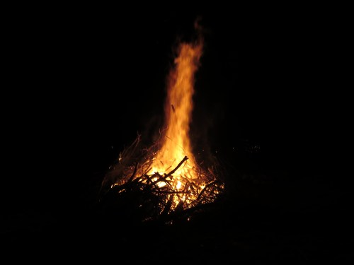 90 feet of flame