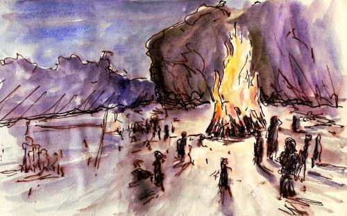 The bonfire as captured by Joel Winstead