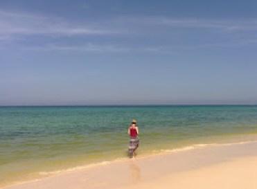 Toes in the Arabian Sea, Gulf of Oman
