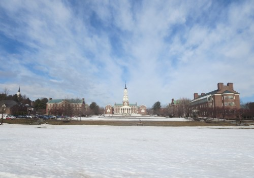 It is not yet Spring (in April) at Colby College
