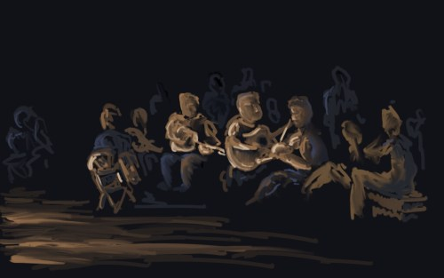 Music by the solstice fire (by Joel Winstead)