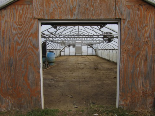 The first greenhouse is about to get a new floor