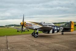 North American Aviation TF51D Mustang (Miss Velma), Αεροπορική Επίδειξη Flying Legends 2016, Αεροδρόμιο Duxford, Cambridgeshire, Αγγλία, Βρετανία (North American Aviation TF51D Mustang (Miss Velma), Flying Legends Airshow 2016, Duxford Airfield, Cambridgeshire, England, UK).