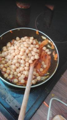 Mix in the Chickpeas (AKA garbanzo beans)