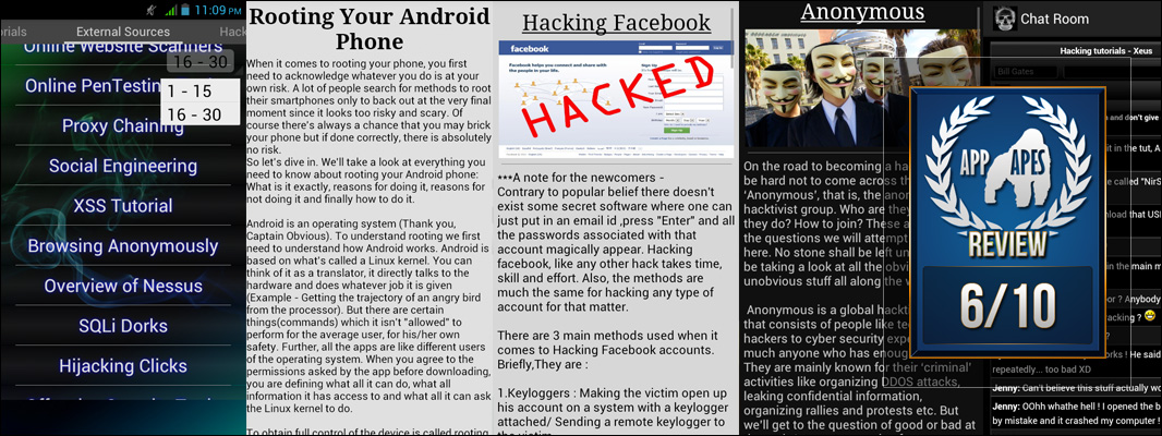 Hacking Tutorials Hack WiFi FB Review