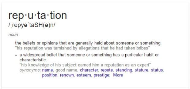 Reputation Definition