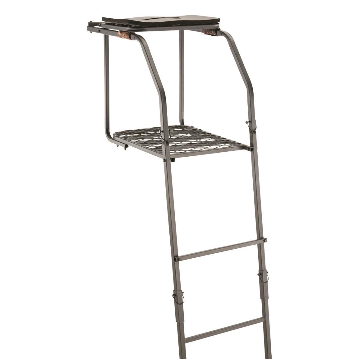 Guide Gear 18 Archers Ladder Tree Stand Hunting Bow And