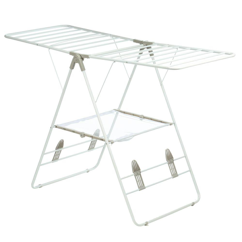 details about honey can do clothes drying rack gullwing freestanding heavy duty metal white