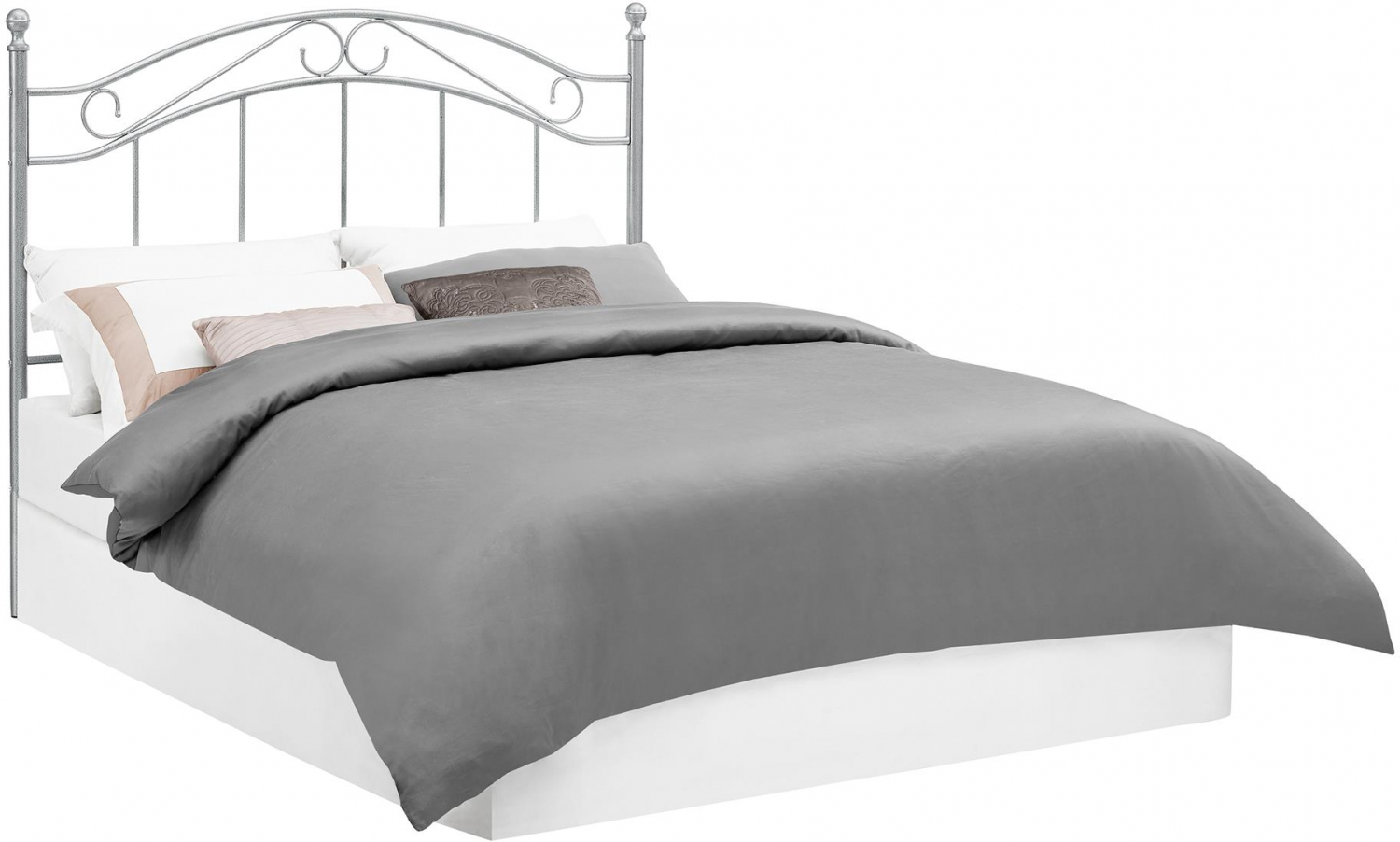 Traditional Metal Black Headboard Full Queen Size Bed
