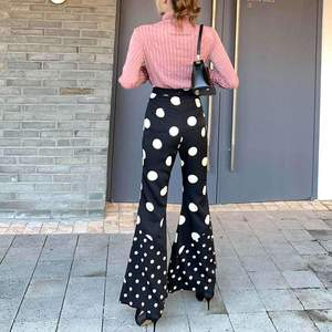 Polka Love Flare Pants With Blush Top