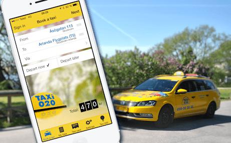 Taxi 020 först med fem olika betallösningar i app