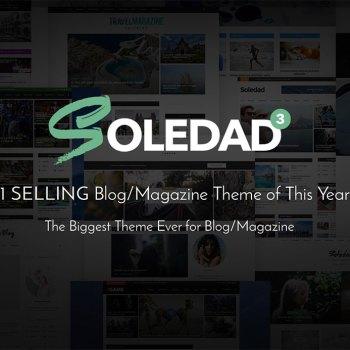 85% OFF-Soledad WordPress Responsive Multi-Purpose Theme 2020