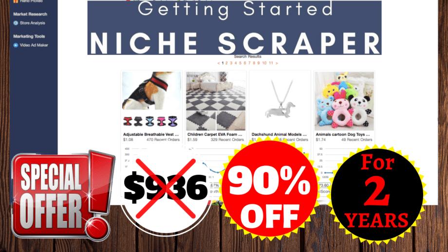 90% OFF Niche Scraper Discount Price 2020 For 2 Years