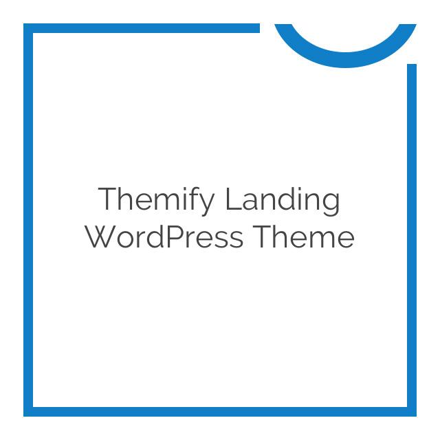Themify Landing WordPress Theme 80% off