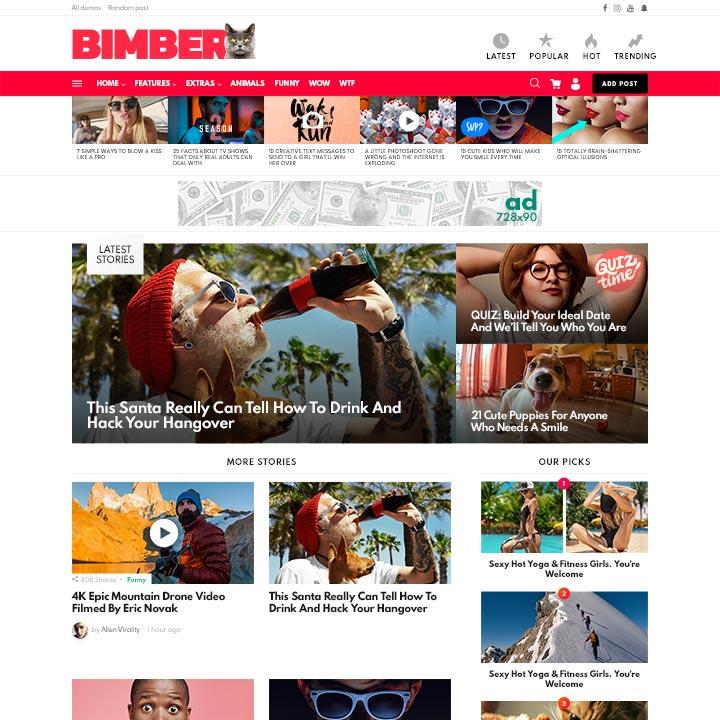Bimber-Viral Magazine WordPress Theme Cheap Price 2020