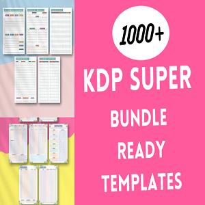 KDP super bundle 1000+ ready templates KDP interiors