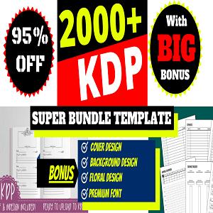KDP super bundle 2000 ready templates KDP interiors