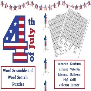 4th of July Puzzles-Kdp Interior Template for Low Content Book for Amazon