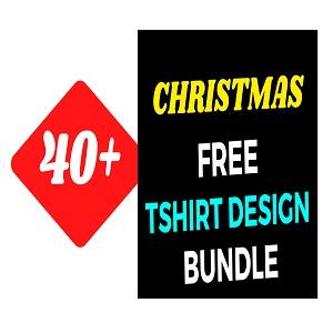 40+Christmas T-shirt Design Bundle Free Download