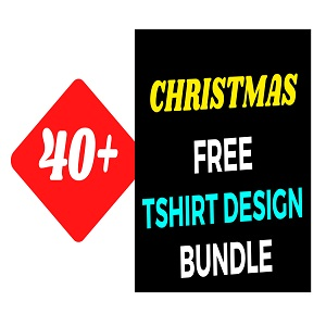 40+Christmas T-shirt Design Bundle Free Download