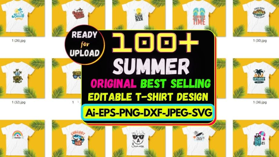 100+Summer Best Selling T-shirt Design Bundle Cheap Price