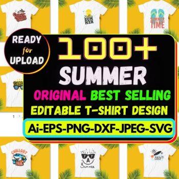 100+Summer Best Selling T-shirt Design Bundle Cheap Price
