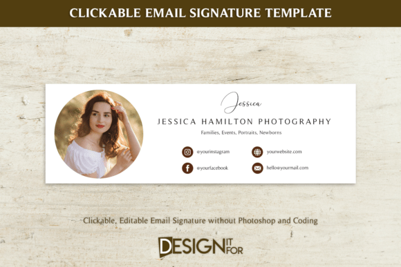 200+High-Quality Editable Email Signature Design Template Cheap Price