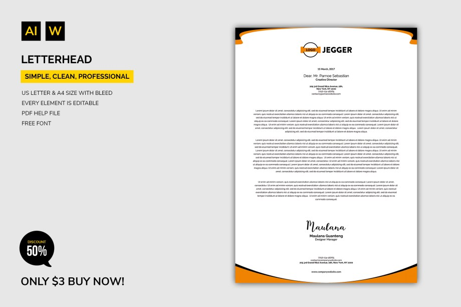 50+Editable Letterhead Business Template Design Cheap Price