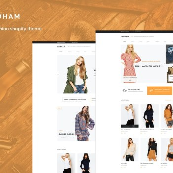 Best Groham - Fashion eCommerce Shopify Theme Cheap Price