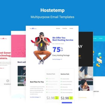 Best Hostetemp - Multipurpose Email Templates & Builder Cheap Price