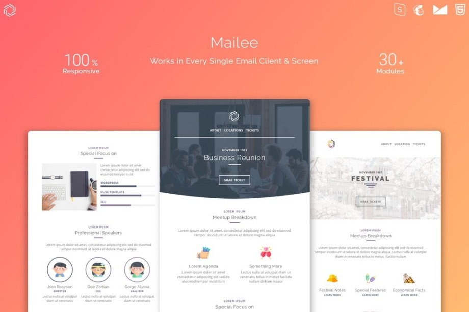 Best Mailee Responsive Multipurpose Email Template Cheap Price