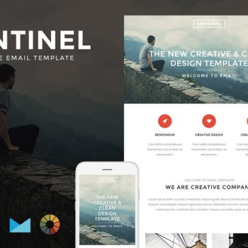 Best Sentinel - Responsive Email + StampReady Builder Cheap Price