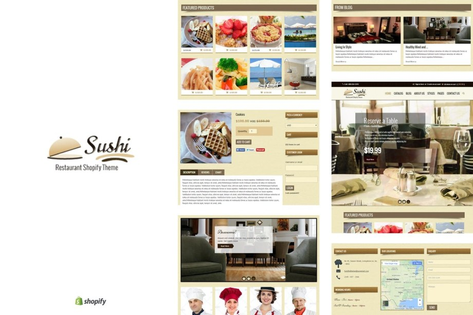 Best Sushi - Food & Restaurant Shopify Theme Cheap Price