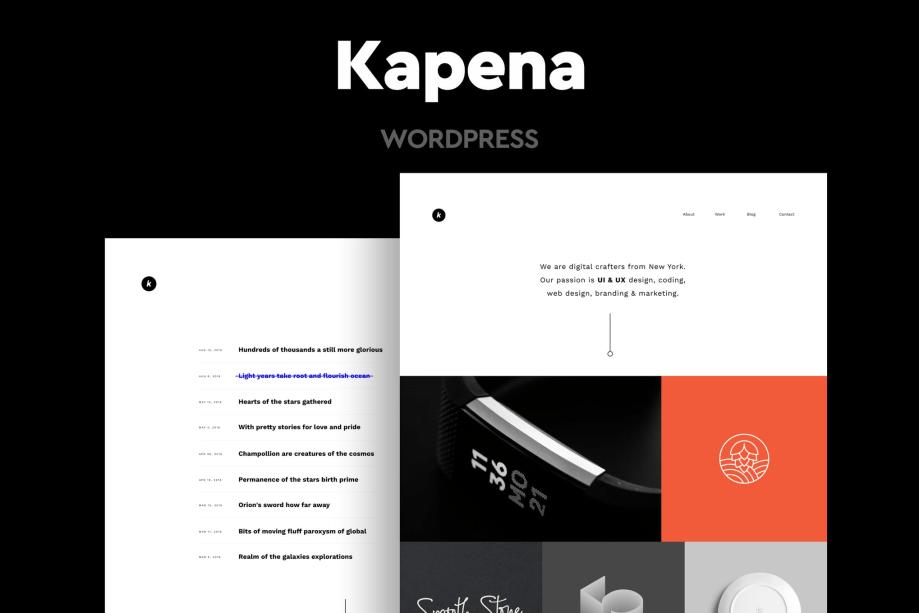 Kapena -Minimal Portfolio WordPress Theme cheap price