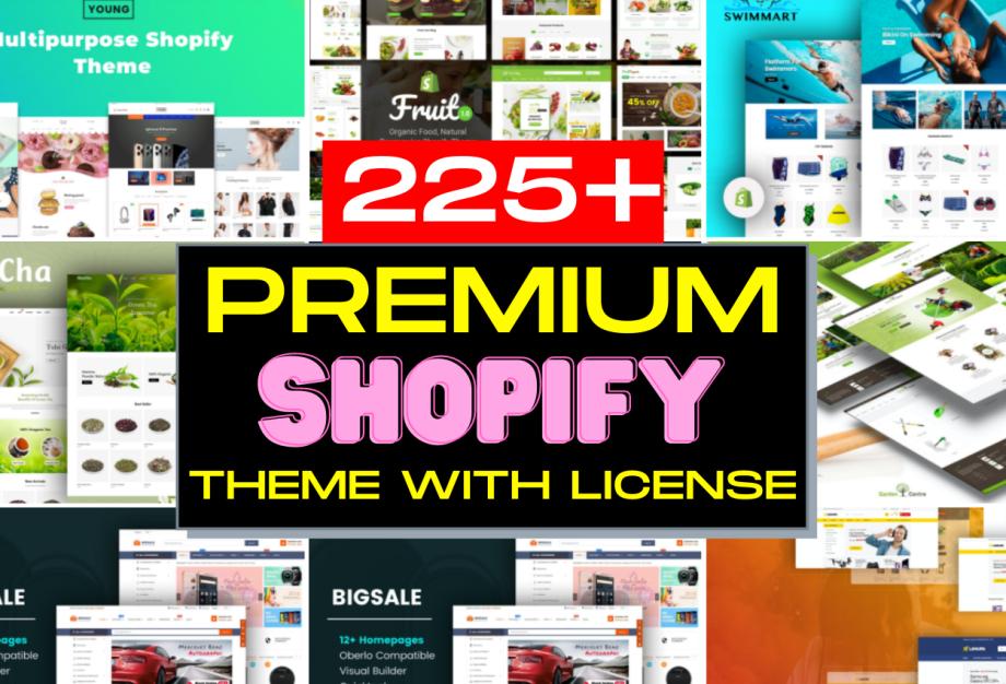 225+ Premium Shopify Theme With License Cheap Price 2021