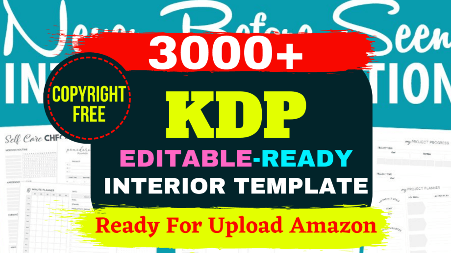 3000 KDP interior templates ready for upload For Amazon & Others Marketplace