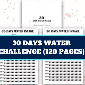 30 Days Water Challenge-30 Days Water Intake KDP Interior