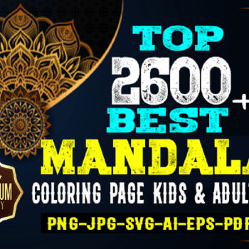 2600 High Quality Premium Mandala Coloring Page Cheap Price