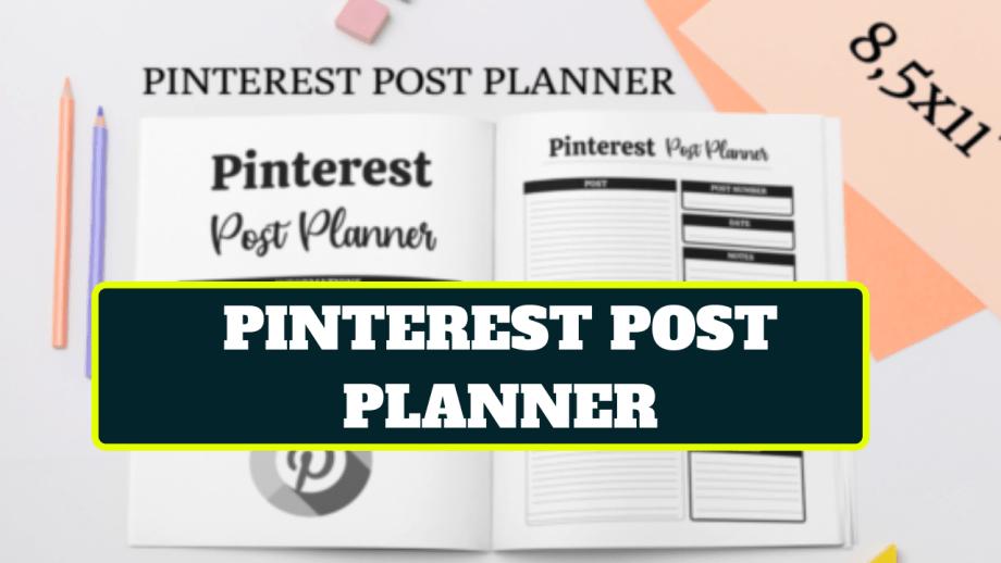 Pinterest Post Planner Template For KDP