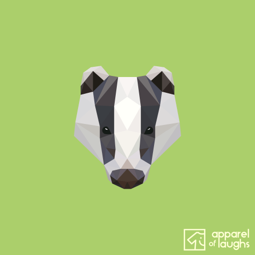 Low Poly Badger T-Shirt Design Kiwi